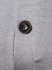 Turtle Neck Button Up Contrast Color Sweatshirt