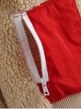Contrast Color Pockets FleeceJacket
