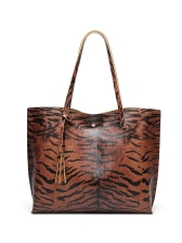 Colored Animal Grain Practical Large Tote Bags For Ladies
