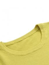 Open Shoulder Long Sleeve Knit Sweater