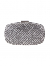 Tiny Rhinestone Metal Material Chain Evening Clutch Bags