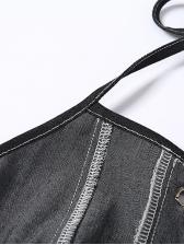 Backless Short Black Halter Homecoming Dresses