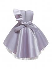 Sequined Ruffled Patchwork Tulle Flower Girl Dresses