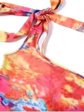 One Shoulder Tie Dye Sleeveless Bodycon Dress