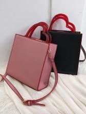 Adjustable Belt Plastic Heart Handle Square Handbags