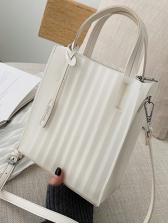 Simple Style Pu Detachable Belt Crossbody Handbags