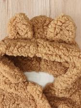 Winter Lambswool Hooded Kid Coat