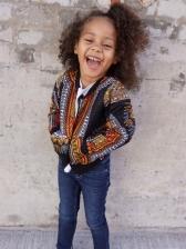 Bohemian Printed Zip Up Kids Winter Coats