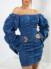 Versatile Long Sleeve Ruched Dresses For Women