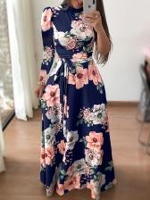 Vintage Printed Plus Size Maxi Dresses For Women