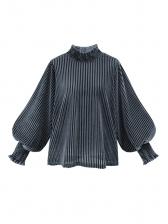 Solid Lantern Sleeve Loose Turtleneck Sweater