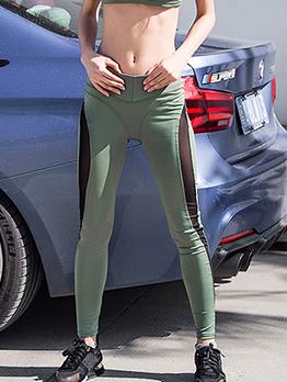 Sporty Gauze Patchwork Yoga Pants