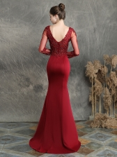 Boutique V Neck Applique Fishtail Hem Dresses For Weddings