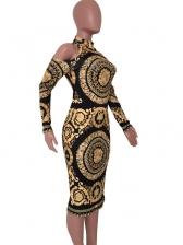 Chic Shoulder Cut Long Sleeve Short Dress