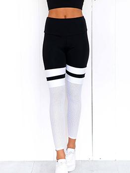 Contrast Color High Waist Breathable Yoga Leggings