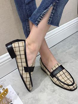 Slip On Chunky Heel Cute Flats