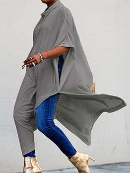 Leisure Solid Bat Sleeve Maxi Dress