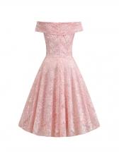 Off The Shoulder Short Sleeve Lace Dress