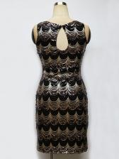 Sexy Wave Sequined Summer Sleeveless Dress