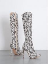 Sexy Stiletto Pointed Snakeskin Boots