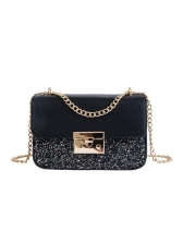 Sequined Powder Rectangle Chain Crossbody Bags