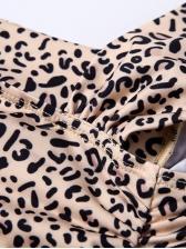 Sexy Leopard Print Sleeveless Bodycon Dress
