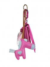 Easy Matching Pony Leather Tassel Silk Scarf Pendant