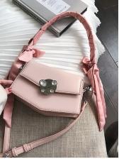 Rhinestones Decor Bind Ribbon Trendy Shoulder Bags