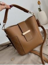 Thread Diamond Pattern Pu Crossbody Shoulder Bag