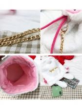 Cute Style Plush Ball Rabbit Ears Chain Crossbody Bags