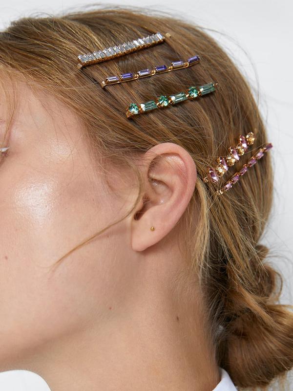 Chic Rhinestone Hair Clips 5 Piece Set