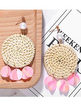 Pearl Woven Sequined Earrings For Women