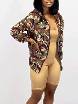 Stylish Printed Hooded Ladies Jacket