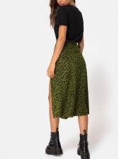 Stylish Leopard Printed Midi Skirt