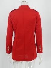Solid Single-Breasted Long Sleeve Ladies Blazer
