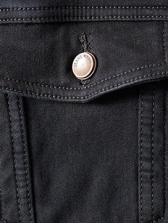 Thick Back Letter Printed Denim Jacket