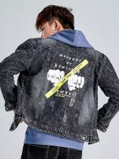 Hip Hop Graffiti Fashion Denim Jacket