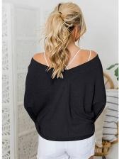 Loose Ribbing Lantern Sleeve Pullover Sweater