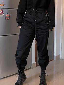 Hot Sale Womens Elastic Waist Cargo Pants