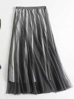 Glitter Fashion Mesh Ladies Skirt