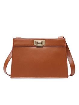Vintage Solid Color Ladies Shoulder Bag