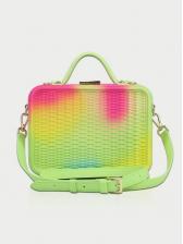 Colored Matte PVC Shoulder Bag With Handle