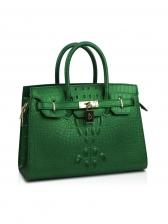 Large Capacity Alligator Print Matte Handbag