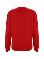 Christmas Letter Printed Pullover Sweatshirt