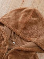 Hooded Brown Women's Winter Coats