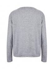 Patchwork V Neck Hollow Knitting Coat
