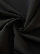 Rivet Open Shoulder Black Blouse