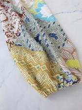 Vintage Printed Lantern Sleeve Dresses For Women