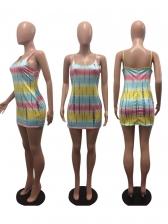 Sexy Contrast Color Sleeveless Bodycon Dress