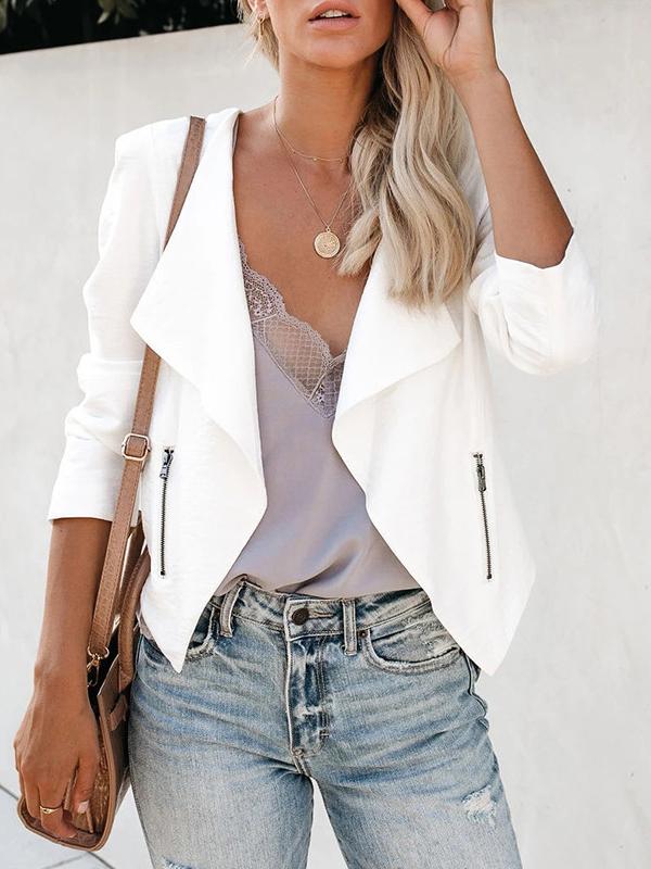 Leisure Solid Slim Fit Ladies Blazer